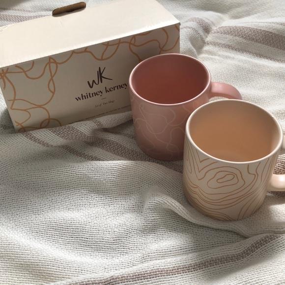 Whitney Kerney 2 Sets of two mugs